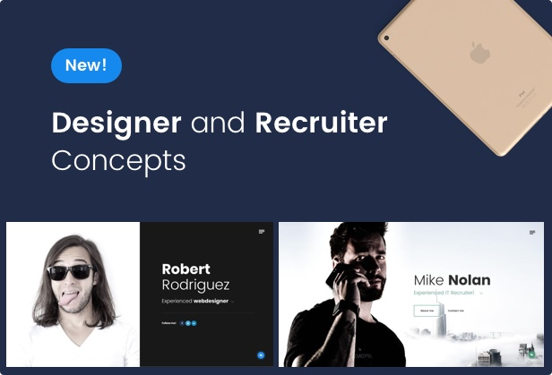 New Designer and Recruiter Concepts