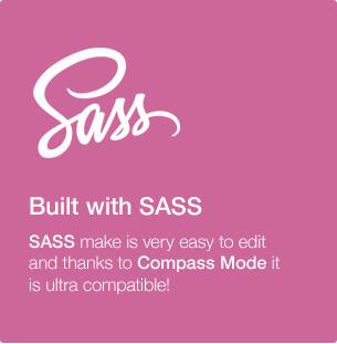 Built with SASS