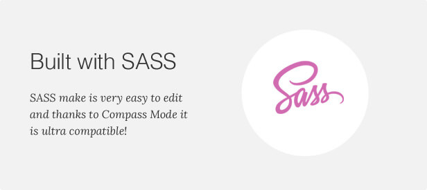 Built with SASS