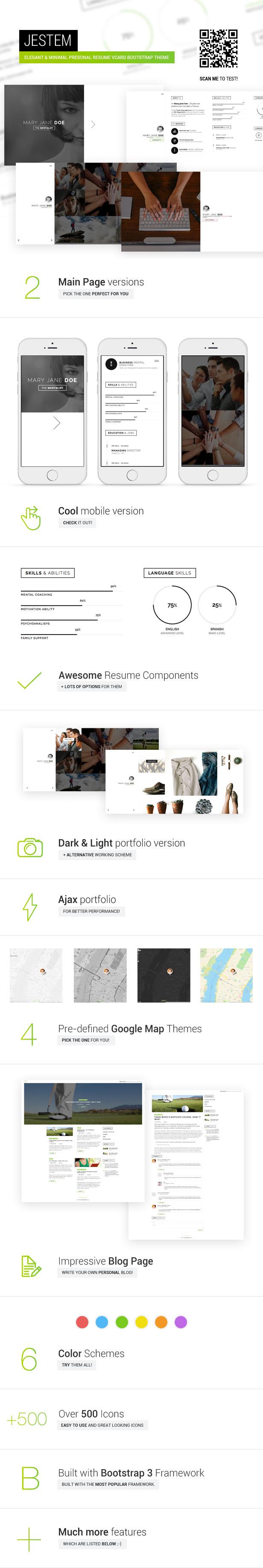 Jestem - Elegant & Minimal Resume vCard Theme