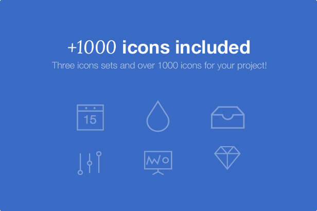 +1000 Icons Included